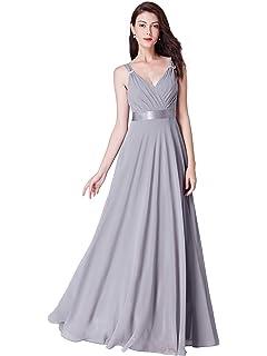 adf005baa688 Ever Pretty Women's Elegant V Neck A Line Floor Length Chiffon Long  Bridesmaid Dresses 07502