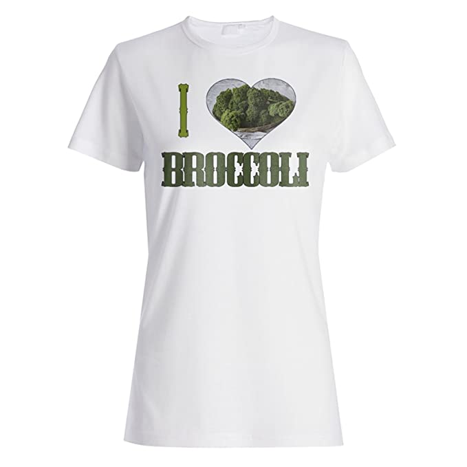 Me Encanta La Comida Vegana De Brócoli camiseta de las mujeres r943f: Amazon.es: Ropa y accesorios