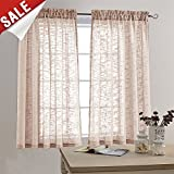 Linen Like Sheer Curtain Panels for Bedroom Sheer Review and Comparison
