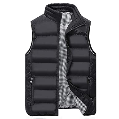 4aee8f4c9a547 Men s Vest Down Sleeveless Jacket Warm Down Lightweight Packable Winter  Gilet Quilted Vest Puffer Vest (