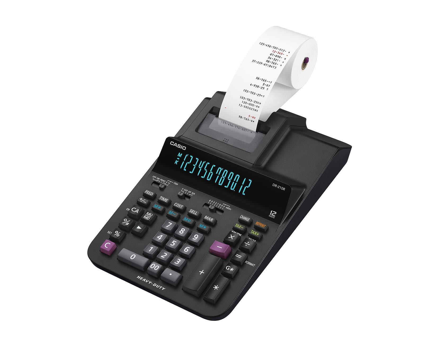 Casio DR-210R Heavy-Duty Printing Calculator