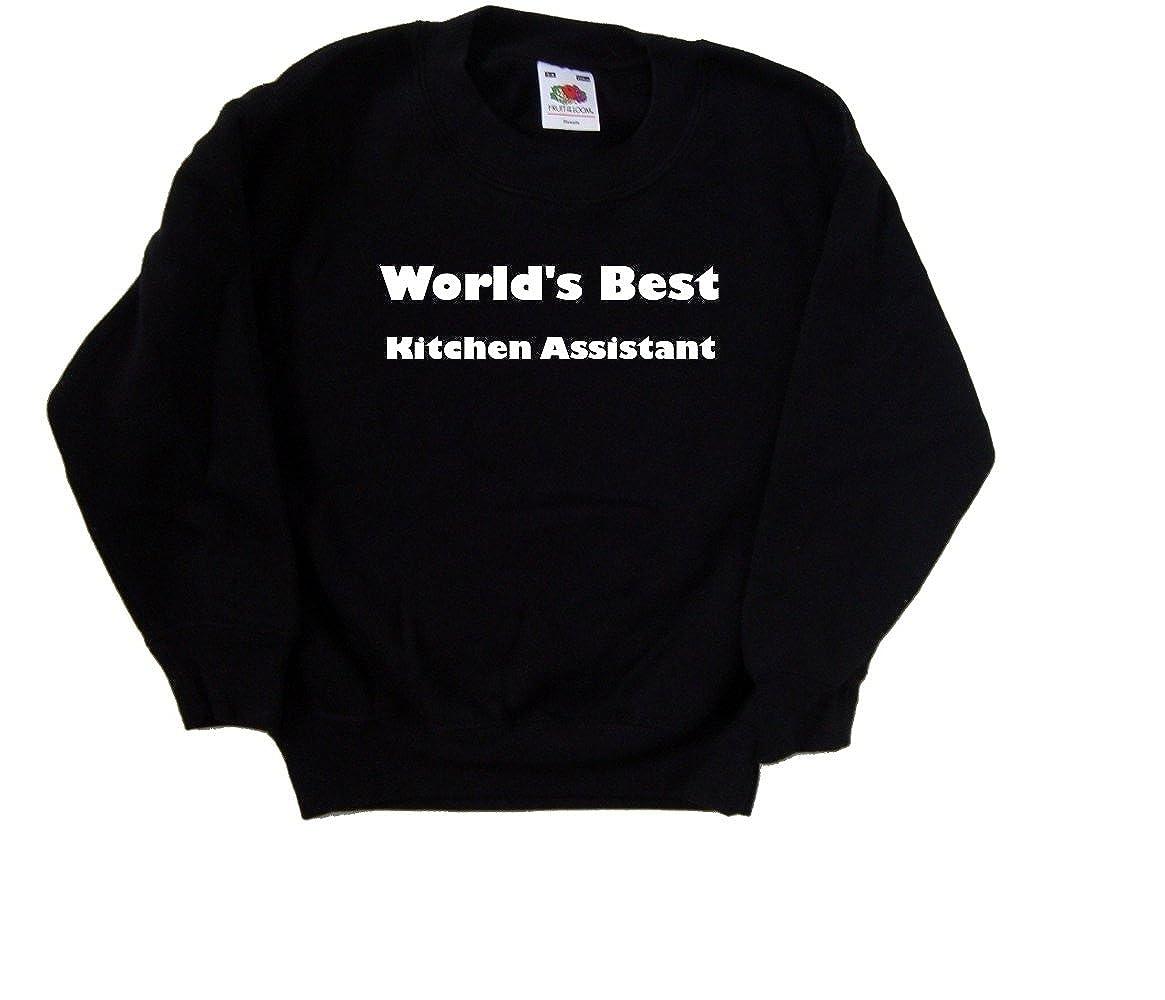Worlds Best Kitchen Assistant Black Kids Sweatshirt