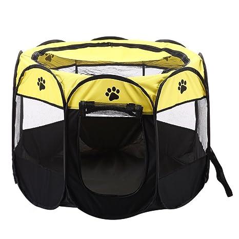 Zmal - Tienda de campaña portátil impermeable para mascotas, transpirable, lavable, perros,