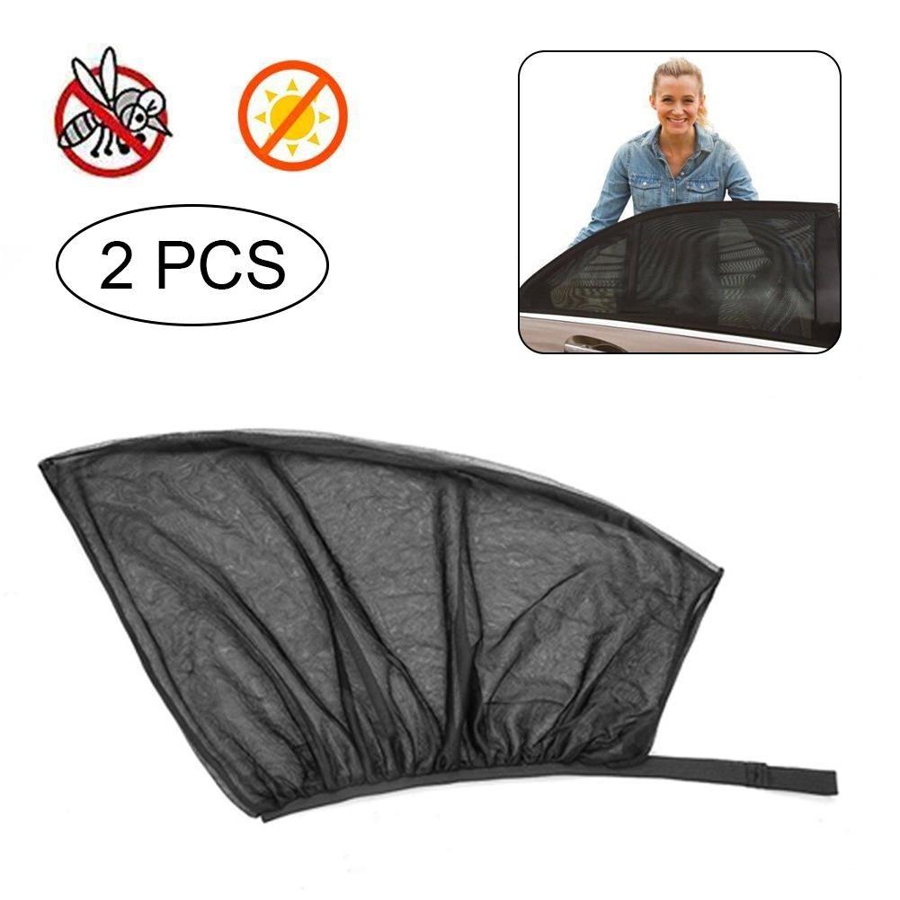 para parasoles FOONEE para Ventana 2 Cortinas universales para el Coche Parasol de Malla para ventanilla Trasera de Coche antimosquitos parasoles y parasoles de Malla Transpirable Trasera