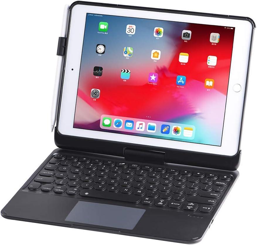 EADOU iPad Keyboard Case for iPad 2018 (6th Gen) - iPad 2017 (5th Gen) - iPad Pro 9.7 - iPad Air 2 & 1 - Thin & Light - 360 Rotatable - Wireless/BT - Backlit - iPad Case with Keyboard (KC7101K)