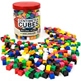 Set of 500 Centimeter Cubes with Storage Container - Mathematics Learning Tool & Educational Teacher Resource for Sorting, Measuring, Counting, & Base-10 Units by Pint-Size Scholars