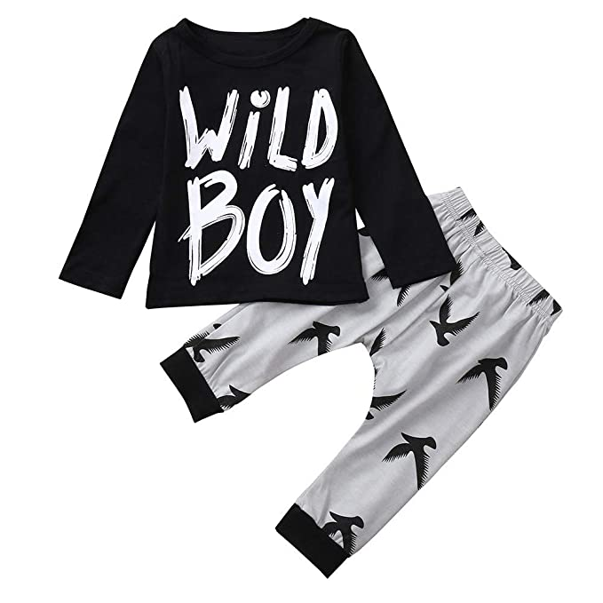 Conjuntos para Bebe Niños Manga Largas Otoño 2018 Moda PAOLIAN Ropa de Camisetas y Pantalones Invierno