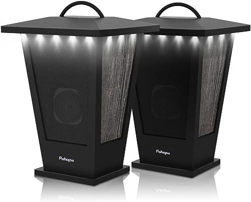 Bluetooth Speakers Waterproof, Pohopa 2 Packs True Wireless Stereo Sound