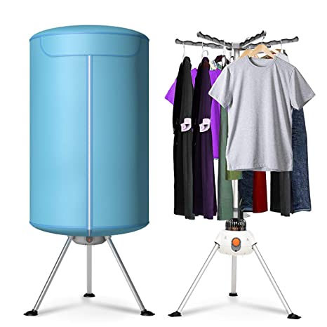 Heating Clothes Amazon Com >> Costway Portable Ventless Laundry Clothes Dryer Heater 900w Electric Folding Indoors Fast Air Dry Hot Drying Machine With Heater For Home Dorms