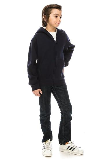 cdfe453d2c99 Amazon.com  Volcan Boy s and Girl s Heavyweight Fleece Zip-up Hooded ...