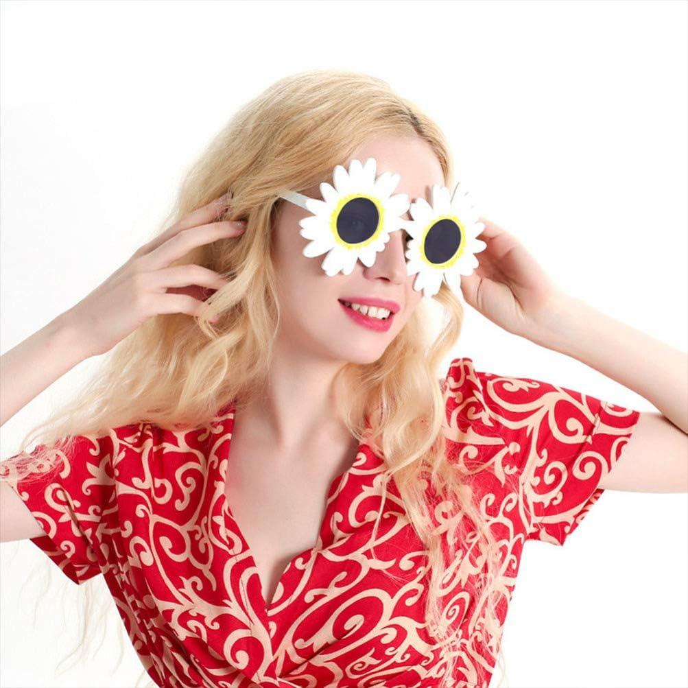 Lunettes De Soleil en Forme De Tournesol Lunettes De F/ête Hawa/ïennes Lunettes De Marguerite Lunettes De Nouveaut/é Accessoires Photo Accessoires De Costume