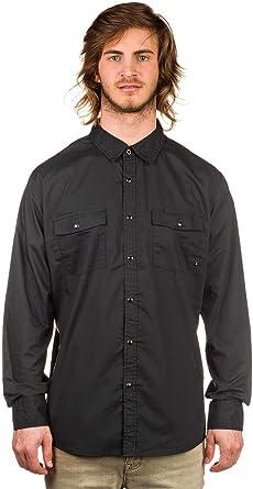 BRIXTON - Camisa casual - para hombre Washed Black large: Amazon.es: Ropa y accesorios