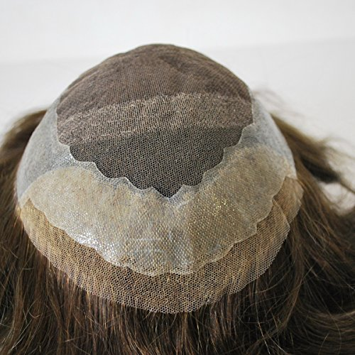 Dark Brown Toupee for Men Human Hair System Hairpiece #2 Pu Lace Ready Made in Stock Lace Hair Systems