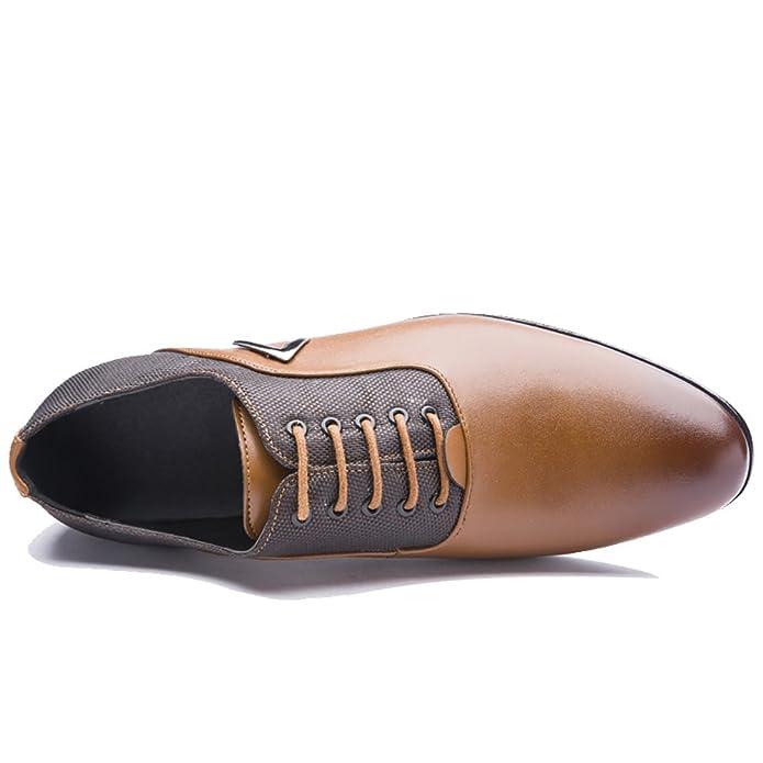 Tribangke - Zapatos Planos con Cordones hombre , color amarillo, talla 41 1/3