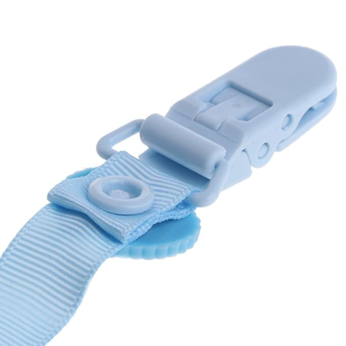 Amazon.com: Kimnny - Cadena para tetina de bebé, clip de ...