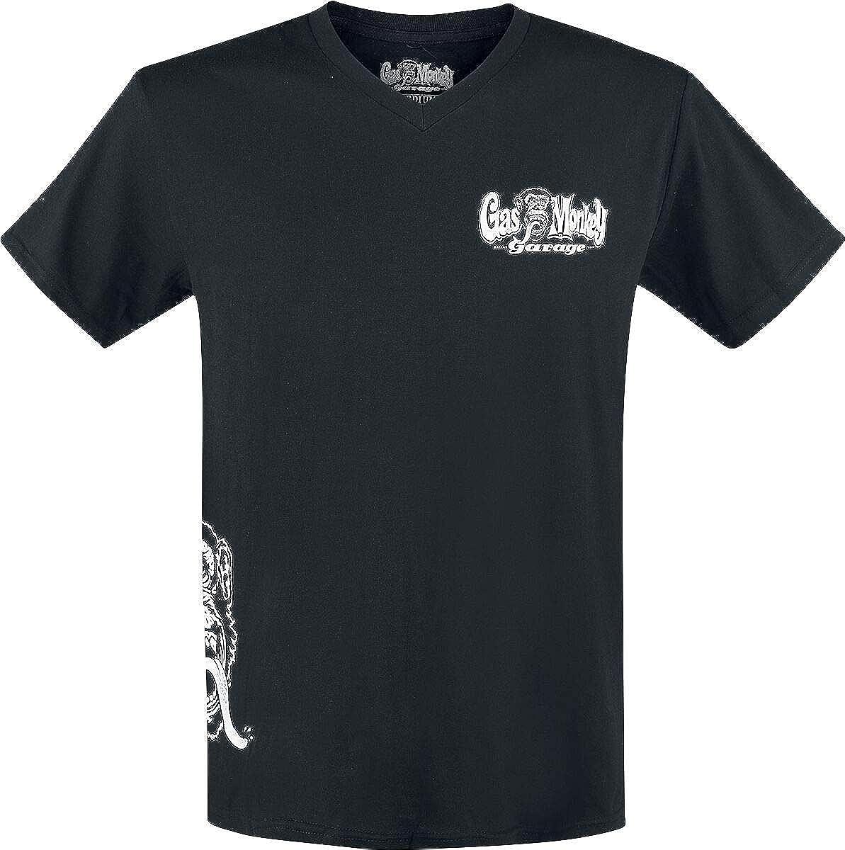 TALLA XL. Gas Monkey Garage T-Shirt Side Monkey