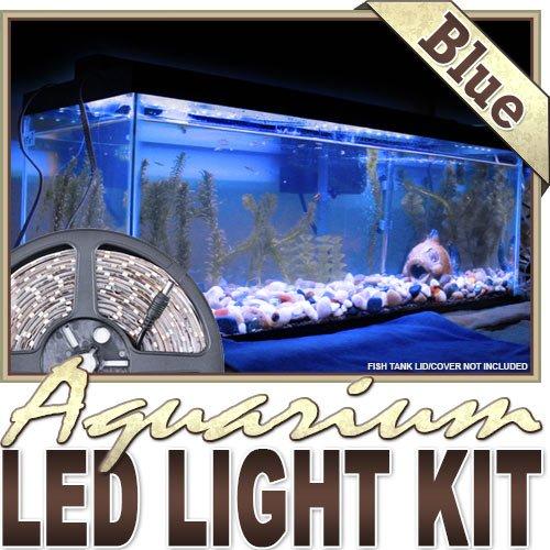 Biltek 16.4' ft Aquarium Reef 455nm Blue Remote Controlled LED Strip Lighting SMD3528 Wall Plug - Main Lighting Sub Fresh Water Salt Water Tanks Water Resistant 3528 SMD Flexible DIY 110V-220V