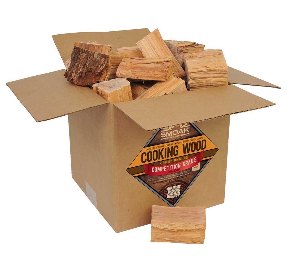 Smoak Firewood Cooking Wood Chunks - USDA Certified Kiln Dried (Pecan, 25-30 lbs)