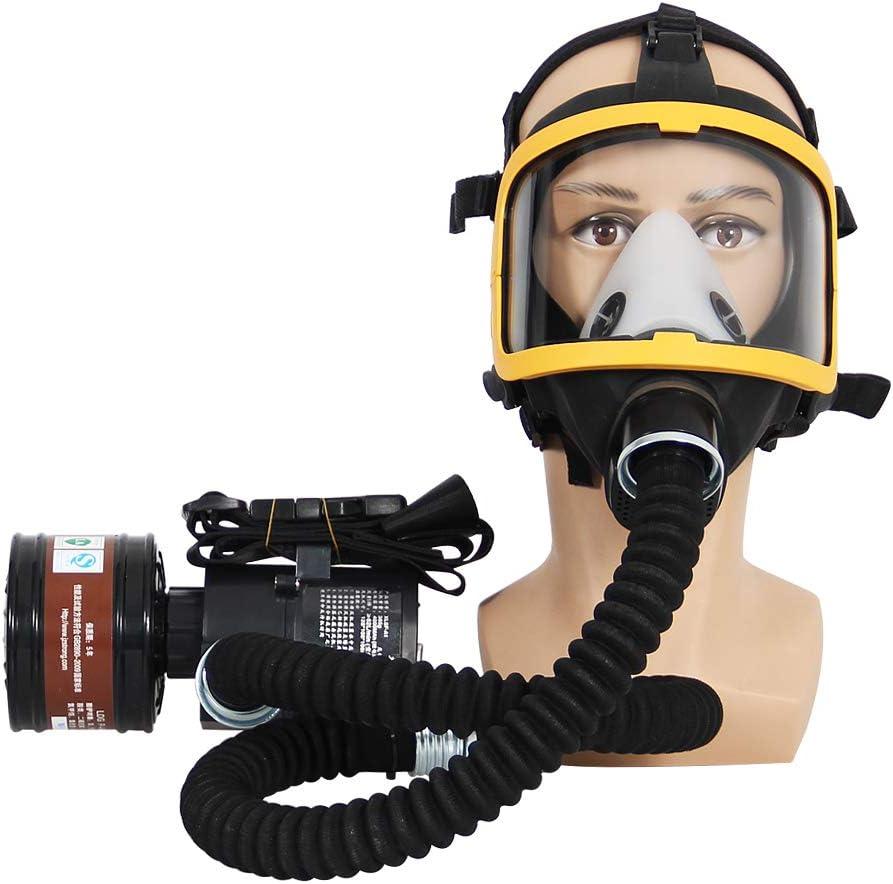 Sistema de respirador de máscara de gas de cara completa suministrada por aire de flujo constante eléctrico, aprobado por la FDA
