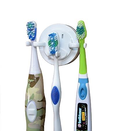 Natural Life Soporte para cepillo eléctrico de dientes, la ventosa de gran capacidad