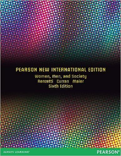 Laden Sie kostenlos Bücher auf Android-Tablets herunter Women, Men, and Society: Pearson New International Edition by Shana L. Maier PDF RTF DJVU