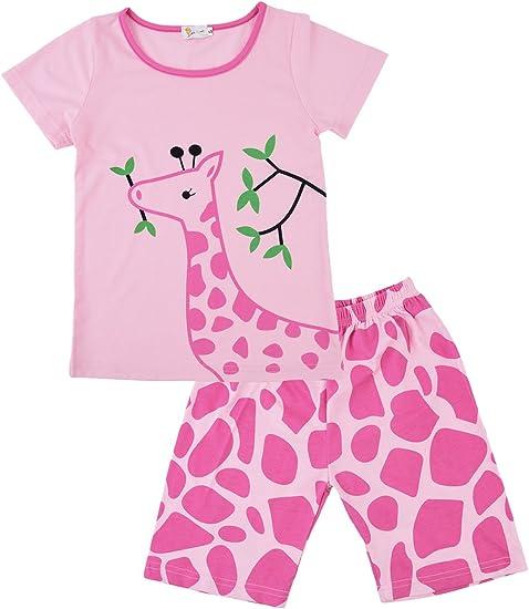Girls Pajamas Children PJs Kids Cartoon Sleepwear 100/% Cotton Set