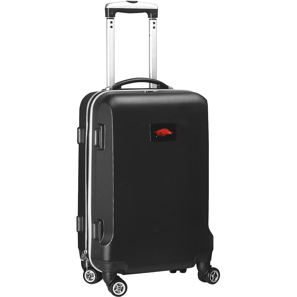 Denco NCAA Arkansas Razorbacks Carry-On Hardcase Luggage Spinner, Black