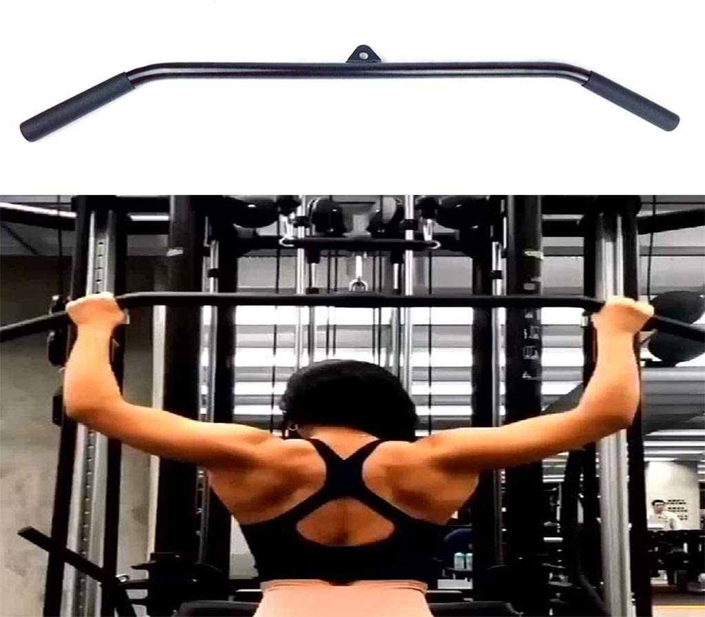 BESPORTBLE LAT Pull Down Bar Pulley Handles Tricep Rope Bar Cable Machine Pulldown Attachment for Gym Accessories
