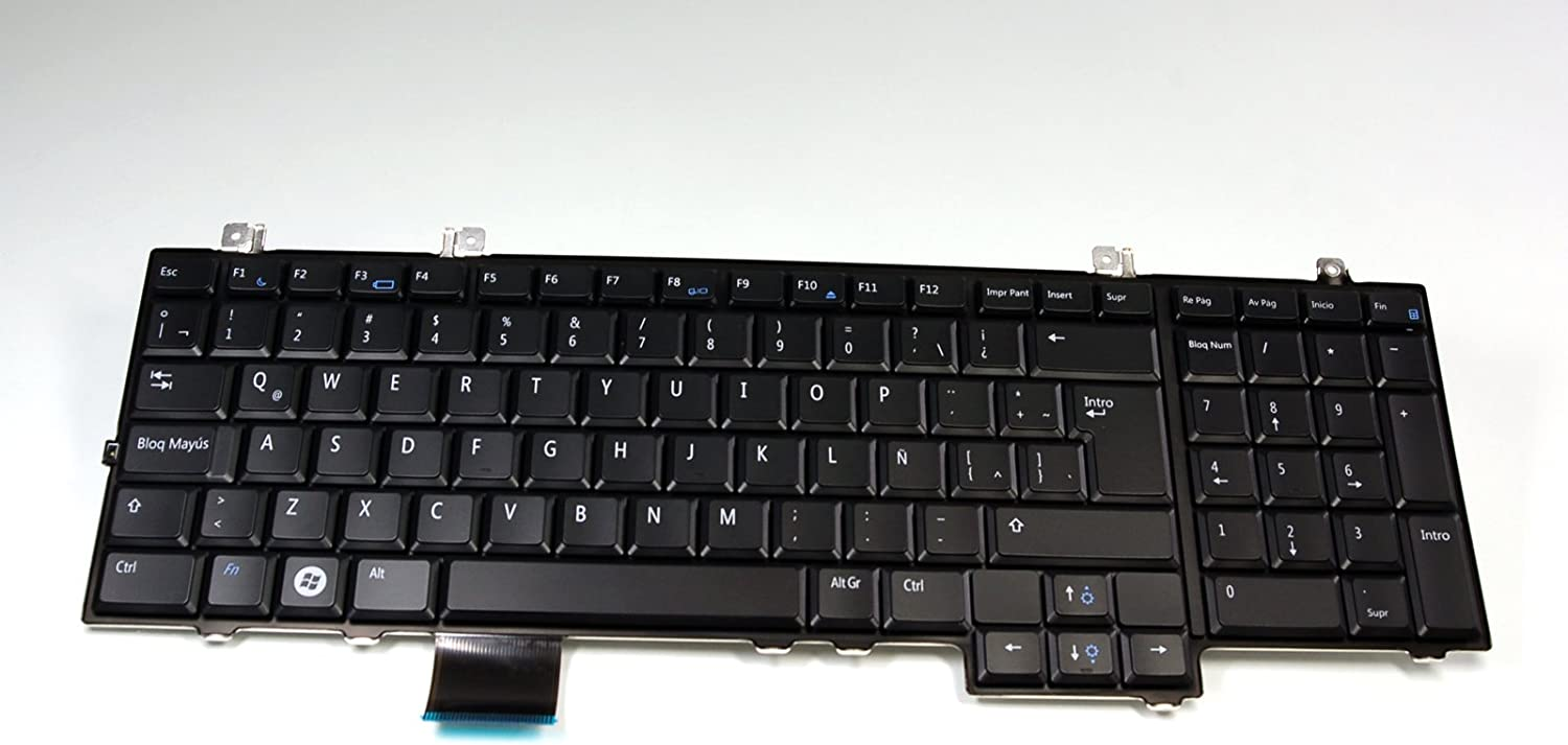 Dell New Genuine OEM Studio 1735 1736 1737 Laptop Keyboard Teclado Espanol Latin Spanish HW332 NSK-DD01E Key Keypad Replacement