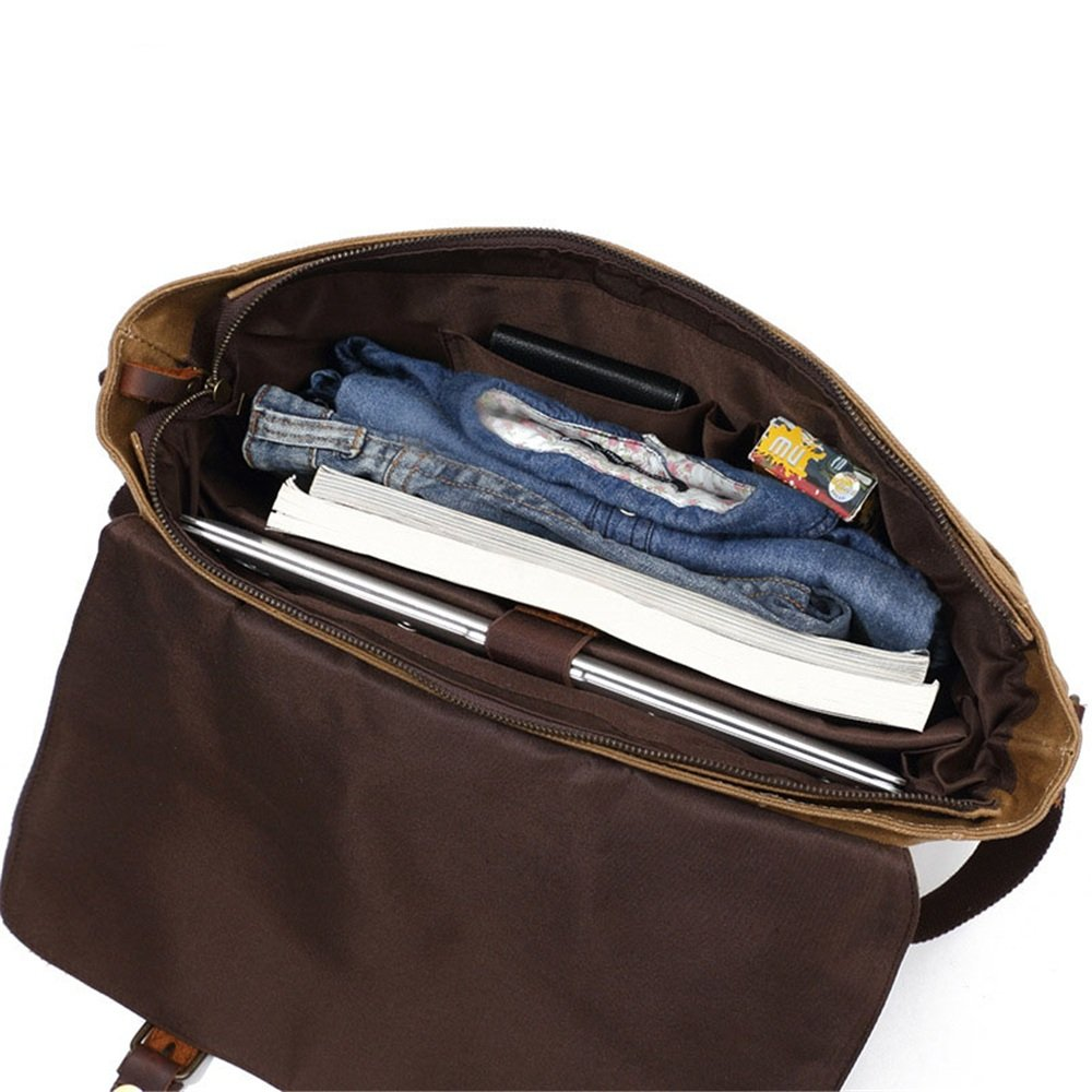 LPYMX Mens Tote Mens Shoulder Messenger Bag Vintage Canvas Bag