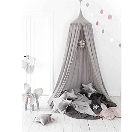 Mosquito Net Canopy Cotton Canvas Dome Princess Bed Canopy Kids Play Tent Mosquito Net Childrenu0027s  sc 1 st  Amazon.com & Amazon.com: Mosquito Net Canopy Cotton Canvas Dome Princess Bed ...