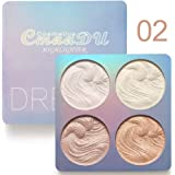 Shimmer Highlighter Powder Palette, Illuminator Powder Palette Highlighter Baked Waterproof Long Lasting Brilliant…