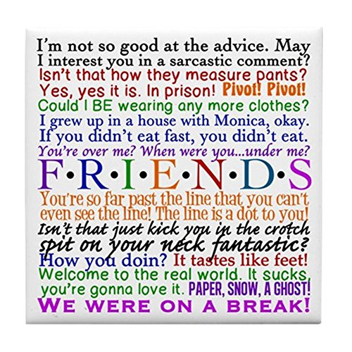 CafePress Friends Quotes Coaster Trivet