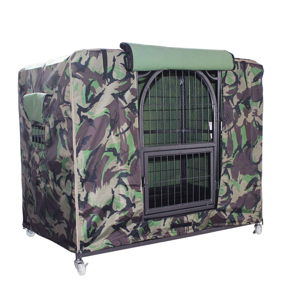 LPD- Cage Cover for Pets Dog Cage Dust Cover Waterproof Protector Rain-Proof Winter Warm, 4 Colors, 3 Sizes (Color : Camouflage Color, Size : 129 x 96 x 103cm) by LPD-Patio Furniture Covers