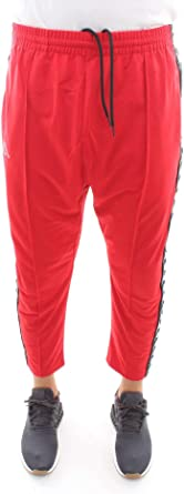 Kappa 3031WR0 Pantalones de chándal Hombre Rojo M: Amazon ...