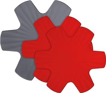 Compra Woll Lana ppset1 Protectores de sartén Set de 3, Conjunto de 2 35 cm de diámetro y 1, 40 cm de diámetro, Rojo/Gris en Amazon.es