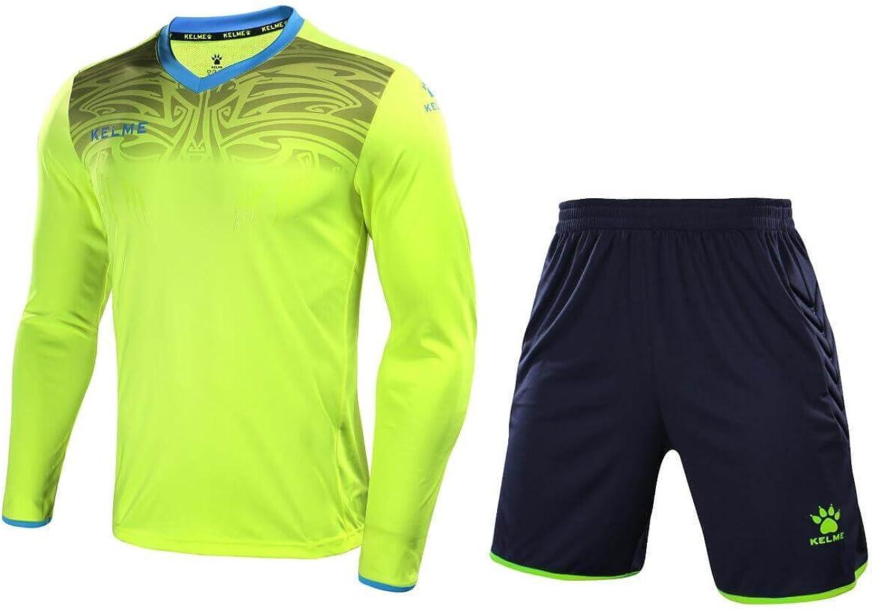 KELME - Conjunto de Uniforme de Portero (Incluye Camiseta de Portero, Pantalones Cortos y Calcetines), XXL, Amarillo: Amazon.es: Deportes y aire libre