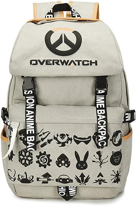 e55c412d749 Mikucos Overwatch Schoolbag School Bag Student Trvel Backpack Gift OW Logo