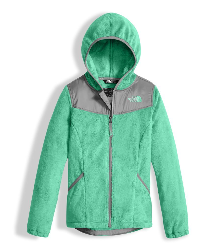 The North Face Girl's Oso Hoodie - Bermuda Green - L (Past Season)