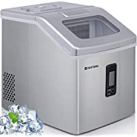 Ice Maker Machine Countertop, 40Lbs/24H Portable Compact Ice Cube Maker with Ice Scoop And Basket Perfect For Your Home.