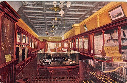 new-kensington-pennsylvania-hloser-jewelry-store-antique-postcard-k22606