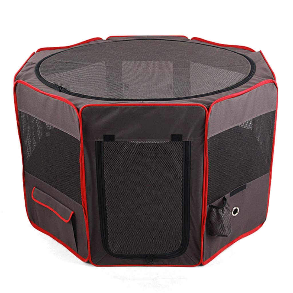 Black 868652cmBackpacks & Slings Collapsible Pet Tent Eightsided Pet Fence Household Portable Dog Box Outdoor Pet Game Bag Cat Fence Loadbearing 17 30KG (color   Black, Size   86  86  52cm)
