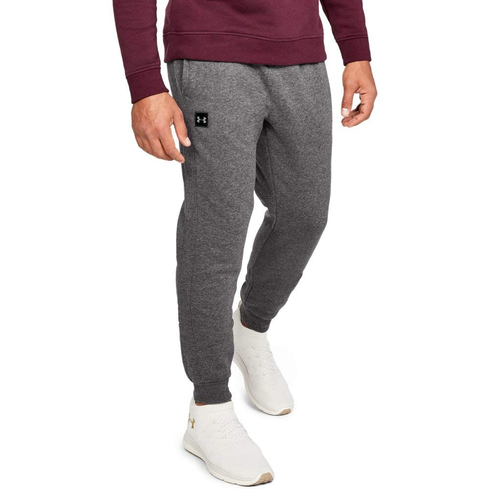 Under Armour Men's Rival Fleece Jogger, Charcoal Light Heath (020)/Black, Medium