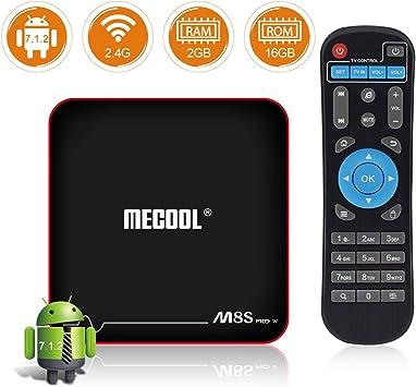 sidiwen mecool M8s Pro w Android TV Box 7.1.2 2GB RAM 16GB ROM amlogic s905
