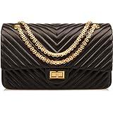 Ainifeel Women s Genuine Leather Quilted Hobo Handbags Shoulder Bag On  Clearance cd84eccebd254