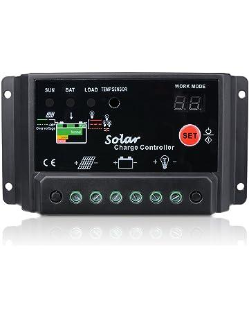 30A Regulador de Carga Sunix, 12V-24V Controlador de Carga de Inteligente PWM Panel