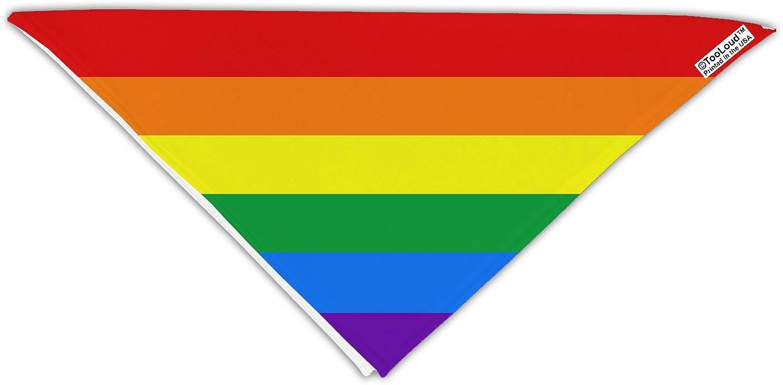 "TooLoud Rainbow Horizontal Gay Pride Flag Adult 19"" Square Bandana All Over Print"