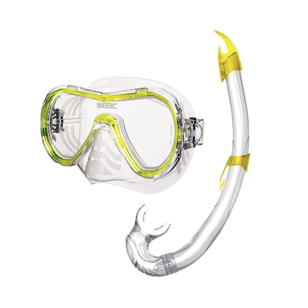 SEAC Elba Dry Premium Adults Scuba Diving Swimming Snorkeling 100/% Pure Silicone Mask Snorkel Set with Gear Bag