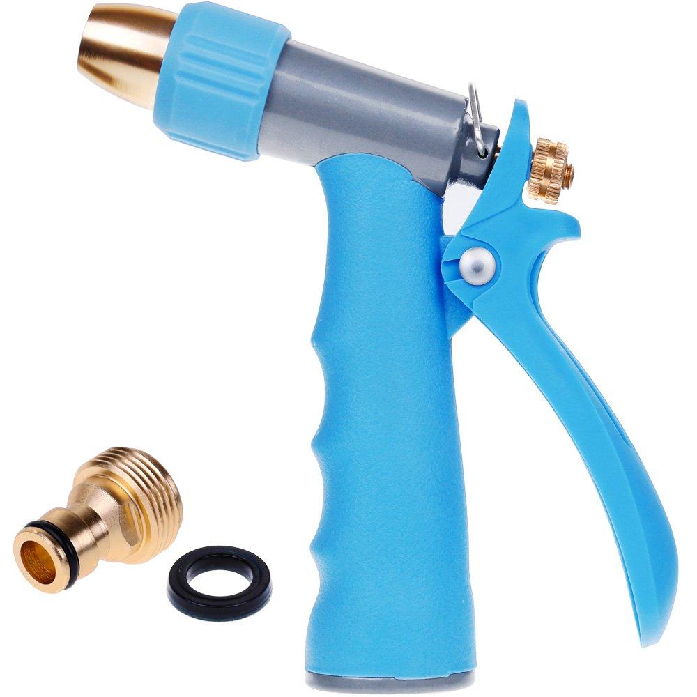 rovtop pistola de riego pistola rociador boquilla ajustable para manguera de riego pistolas de agua