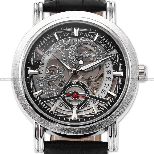 Luxury Watches For Men Automatic Mechanical Mens Skeleton Leather Sport Wrist Watch